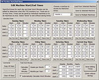 TSS-NET Screen: Machine Schedule